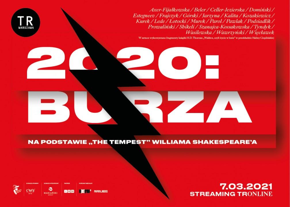 2020: BURZA – spektakl, który tworzy widz. Kino Pod Baranami zaprasza